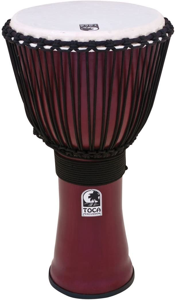 Toca TO809278 Djembe Freestyle II Rope Tuned 9 parche sint/ético color negro oscuro afinaci/ón traditional con cuerda