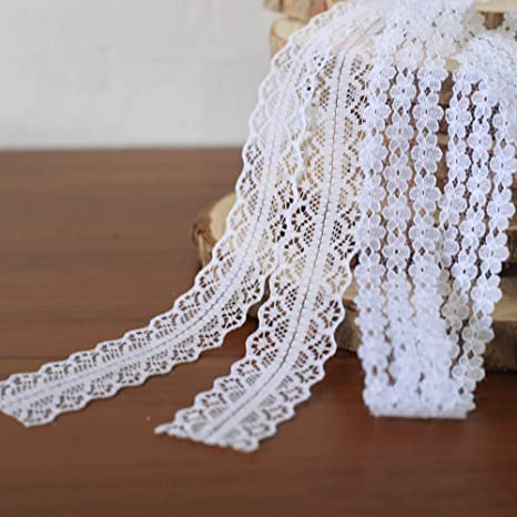 50m sewing lace trimmings Vintage Wedding Crochet Lace Ribbon clothes lace trims