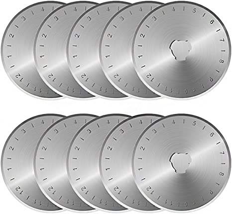 45mm Rotary Cutter Refill Blade Sewing Quilting Photos Fits Olfa Fiskars Cutters