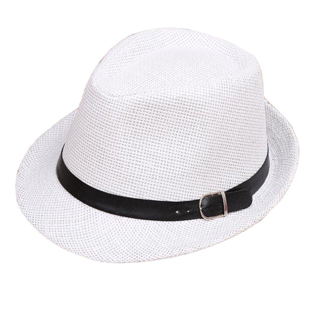bda9458f25b Amazon.com  Unisex Parent-Child Straw Hat Fedora Sun Hat Jazz Hat Panama- Hats  Clothing