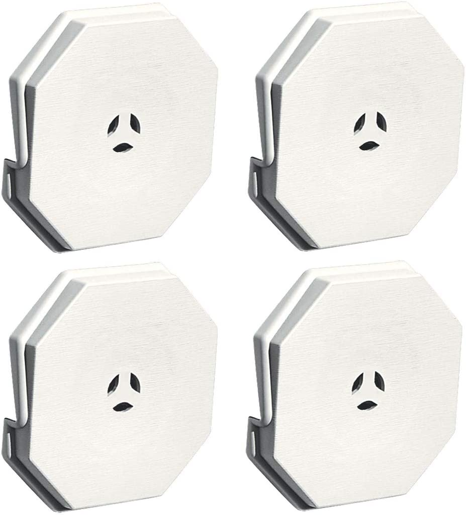 Builders Edge 130110006123 Surface Block 123, White,Sold as 4 Pack