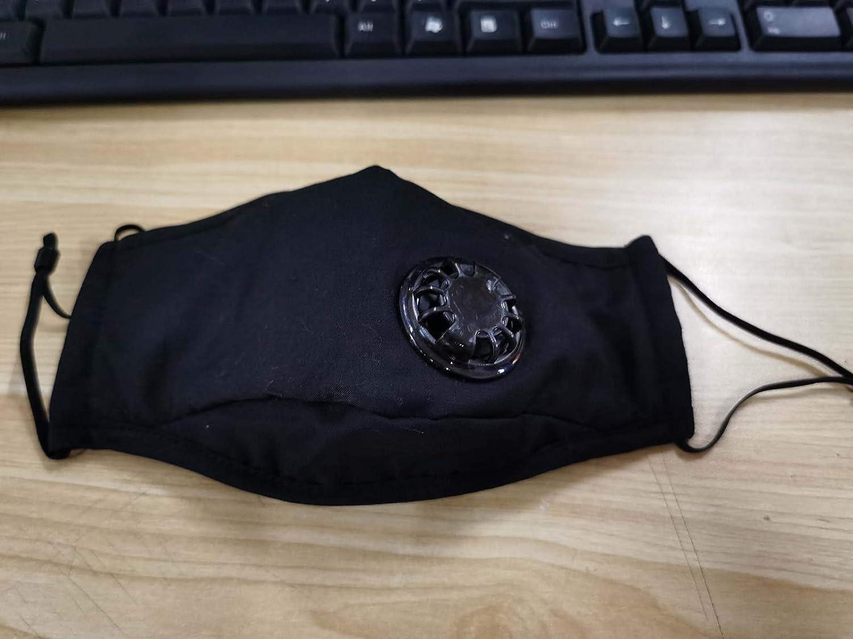 eiuEQIU 2X Baumwolle Mundschutz Unisex Schutz Anti-Spuck Face Shield Sommer Schutztuch Bandana Waschbar Sommer Atmungsaktiver Wiederverwendbarer mit 20 Filter