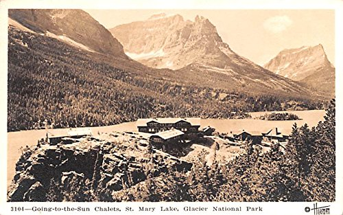 Going to the Sun Chalets Glacier National Park, Montana postcard
