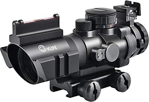 CVLIFE 4x32 Tactical Rifle Scope Red & Green &Blue Illuminated Reticle Scope