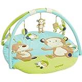 Fehn 081664 3-D-Activity-Decke Affe – Spielbogen mit 5 abnehmbaren Spielzeugen für Babys Spiel & Spaß von Geburt an – Maße: Ø85cm