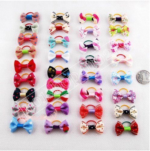 20 X Puppy Dog Cute Hair Bows Pets for Grooming