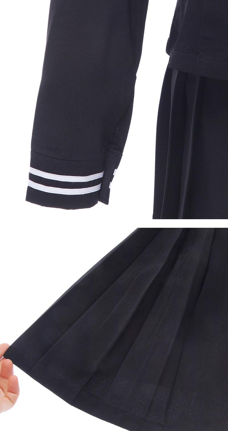 ROLECOS Womens Sailor School Uniform Dress Black L GC13A by ROLECOS (Image #8)