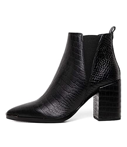 86d56a31f7d434 TONY BIANCO Bello-TB Black Alligator Womens Shoes Chelsea Boots Ankle Boots