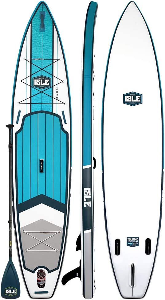 ISLE 12 6 Discovery Inflatable Stand Up Paddle Board 6 Thick Touring iSUP and Bundle Accessory Pack Durable and Lightweight 31 Stable Wide Stance 275 lb Capacity