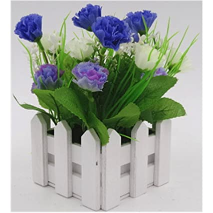 Amazon Artificial Carnations Flowersdiy Wooden Fence
