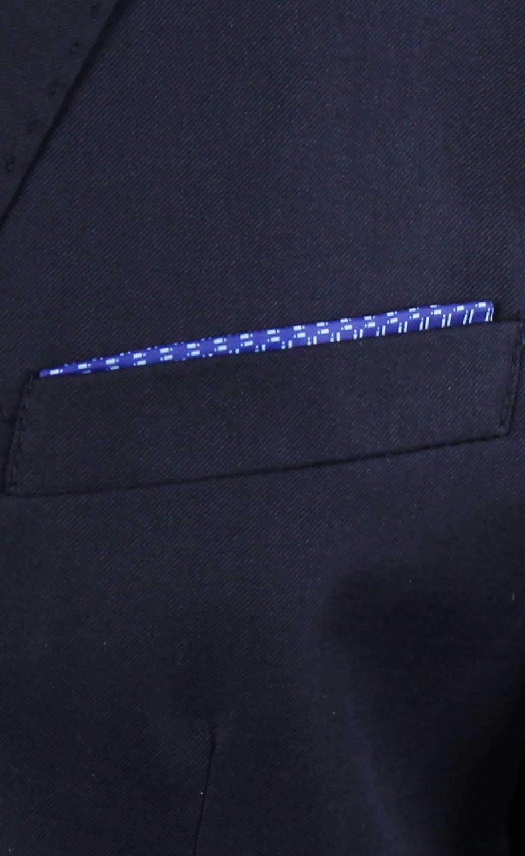 Giacca Uomo Blu Primaverile Elegante in Cotone Blazer Slim Fit Estiva Sartoriale con Pochette Casual