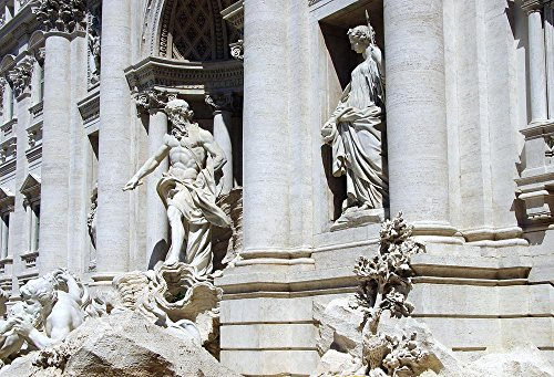 Gifts Delight Laminated 36x24 inches Poster: Italy Rome Trevi Fountain Fountain Water Statues Sculptures
