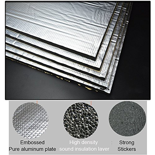 Guteauto 236 mil 15 sq ft Sound Deadening Mat Sound Deadener Soundproof Cotton (Mat Proof)
