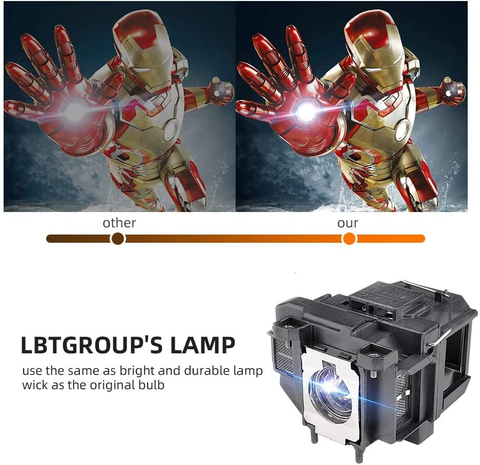 Replacement Lamp Elplp67//V13h010l67 Projector Lamp LBTGROUP PowerLite Home Cinema 710 750HD EX7210 EX3210 EX3212 EX5210 H429A VS210 VS220 MG-850HD PowerLite 1221 1261W EB-S02