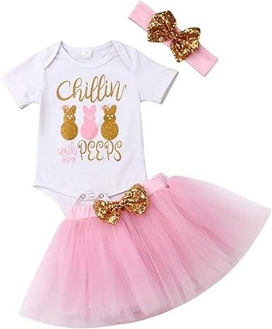 3Pcs Set Girls Baby Leopard Print Tutu Skirts Bodysuit Heabdand Kid Sets Outfits