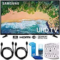 Samsung UN65NU6900 65 NU6900 Smart 4K UHD TV (2018) w/Accessories Bundle Includes, 2X 6ft HDMI Cable, LED TV Screen Cleaner (Large Bottle) and SurgePro 6-Outlet Surge Adapter w/Night Light