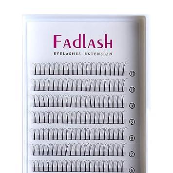 94998d005fb Amazon.com : Volume Lash Extensions Premade Fans 3D/5D C/D Curl 0.10mm  Individual Eyelashes Natural Rapid Cluster Lashes by FADLASH (3D-0.10-D, ...