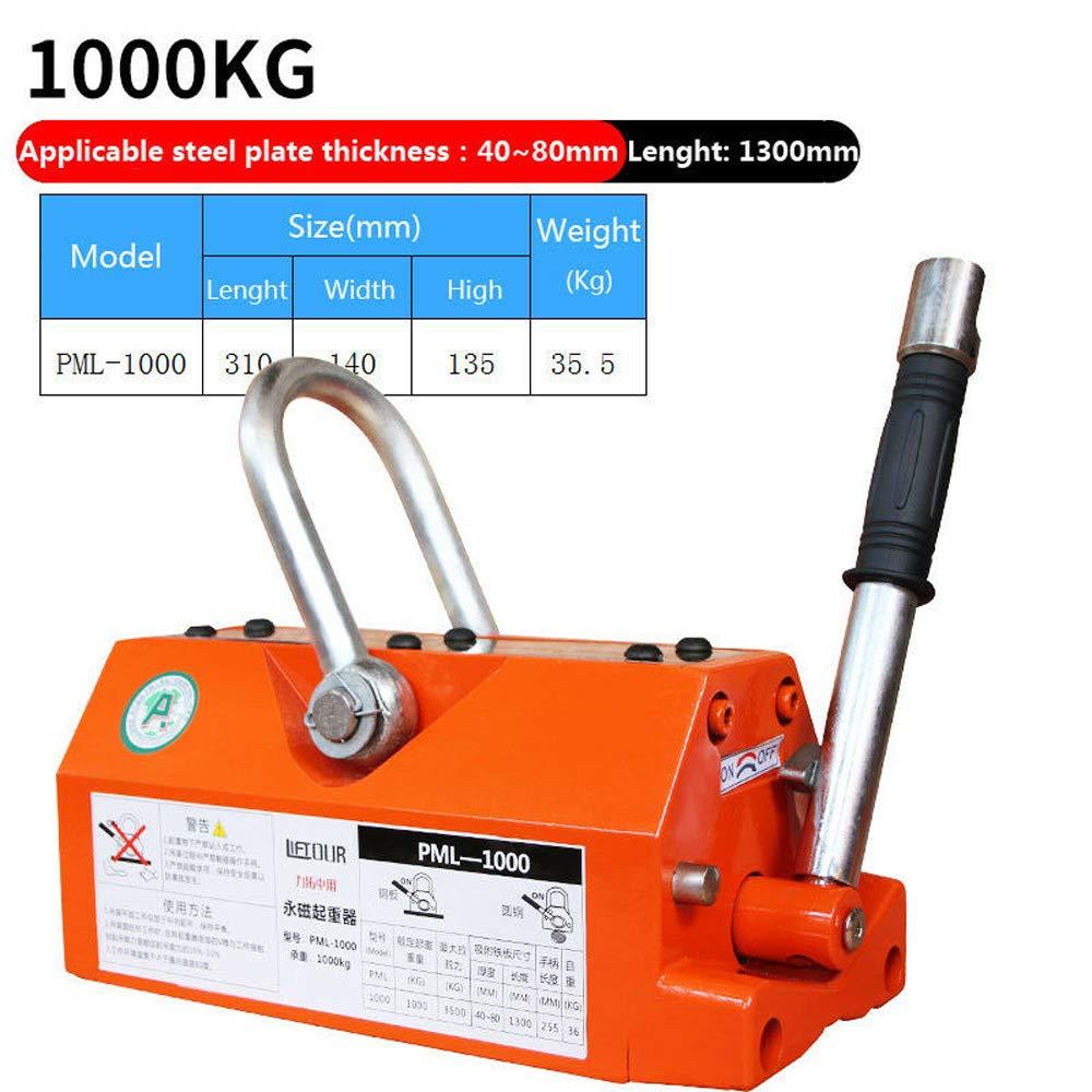 Steel Magnetic Lifter 1000KG 2200LB Heavy Duty Metal Lifting Permanent Magnet Crane Magnetic Lift Hoist Shop Crane