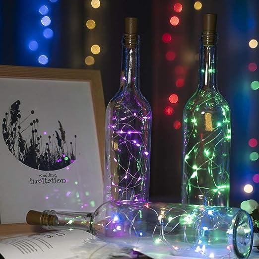 Decoraciones de luz 2M 20 LED Luces de Botella de Vino Corcho LED ...