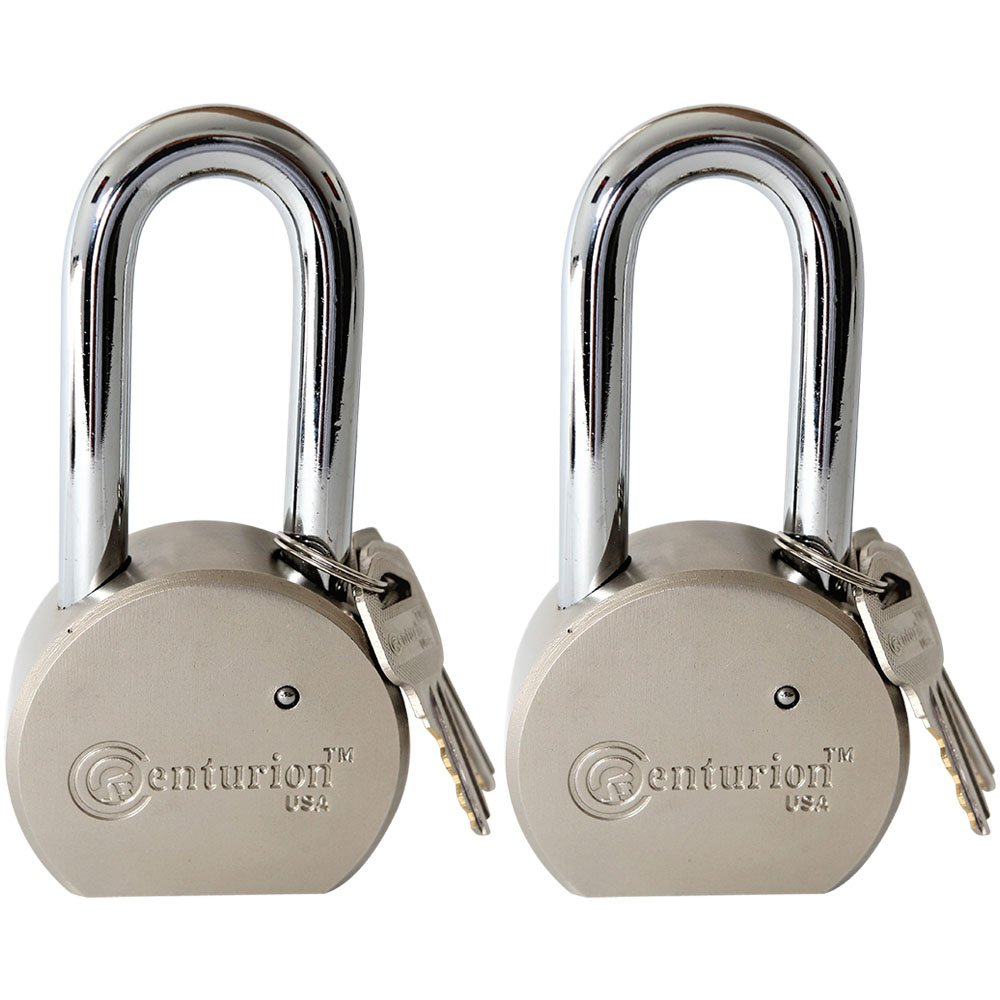 Centurion Round Body Solid Steel Padlock – 65mm Wide Body (70mm Shackle ((2) Pieces))