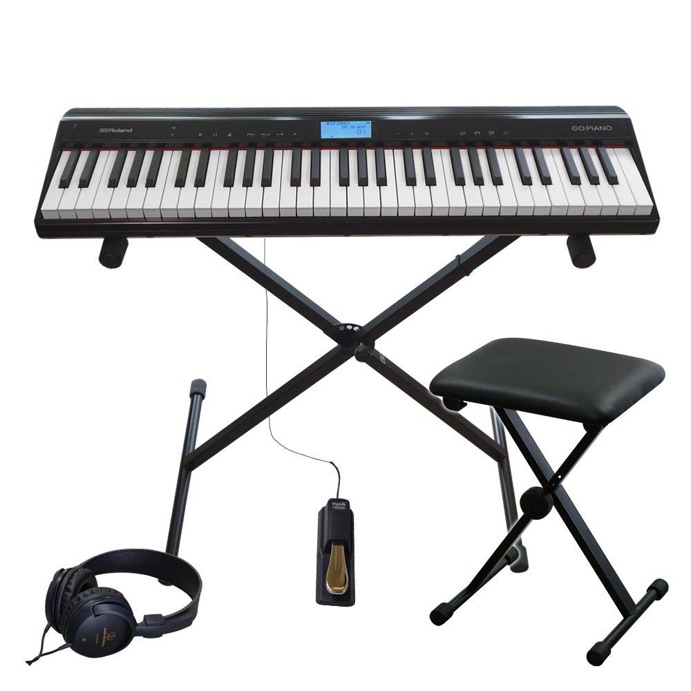 【2019春夏新作】 ローランド 61鍵盤電子キーボード RolandB0739KZF8R (ピアノ音色が充実GO PIANO)スタンドイス付き RolandB0739KZF8R, 浜名湖グルメマーケット:4269439a --- a0267596.xsph.ru