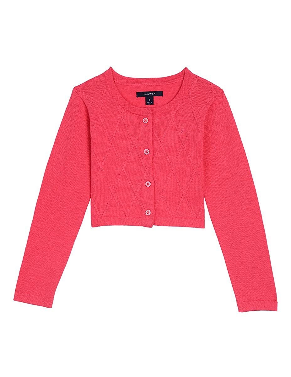 Nautica Girls Cardigan with Ottoman Stripe Heart