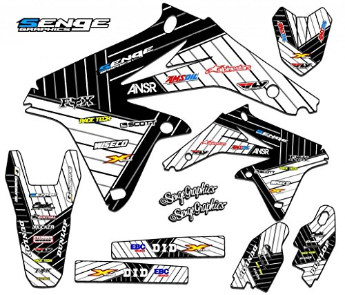 Senge Graphics 2001-2007 Suzuki DRZ 125, Race Series White Graphics Kit
