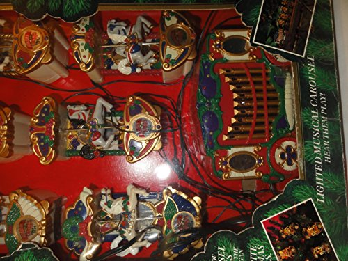 Mr. Christmas Holiday Carousel Musical / 6 Horses Figurines by Mr. Christmas (Image #1)