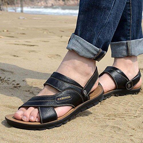 Da Traspiranti Duplice Scarpe Scarpe In Giovent Uomo Pelle A Sandali Spiaggia Casual Da Uso qwzXx1Pp