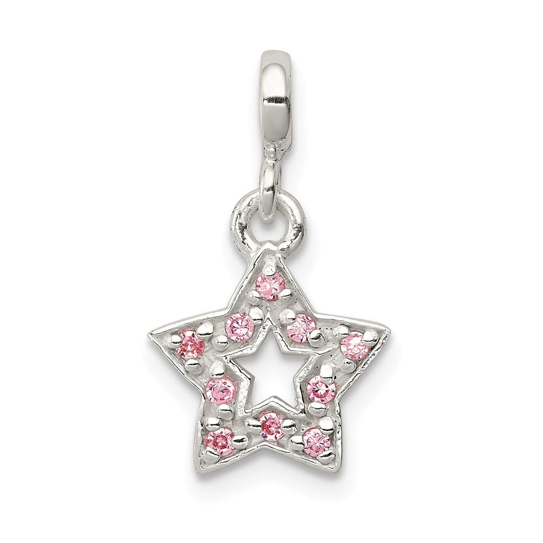 ICE CARATS 925 Sterling Silver Pink Cubic Zirconia Cz Star Enhancer Necklace Pendant Charm Celestial Fine Jewelry Ideal Gifts For Women Gift Set From Heart