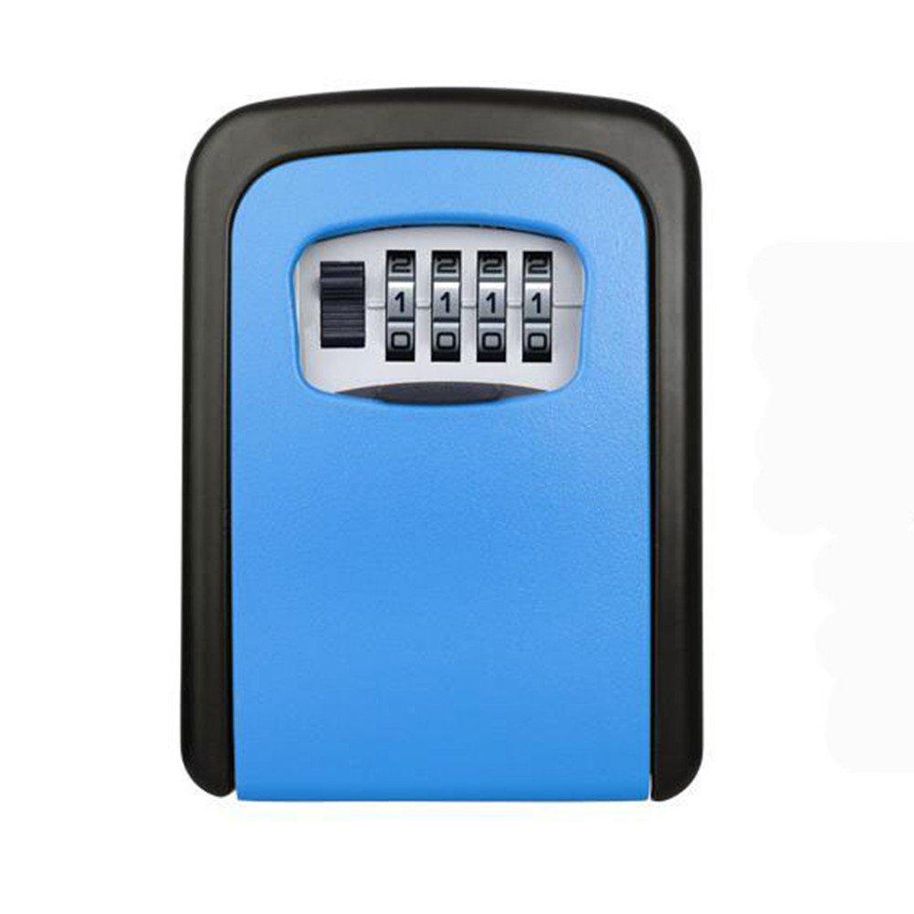 Coffre à clé de très grande capacité Coffre-fort, mini coffre-fort HomeYoo et système de gestion des clés, combinaison de codes muraux résistants aux intempéries Armoire de rangement des clés p