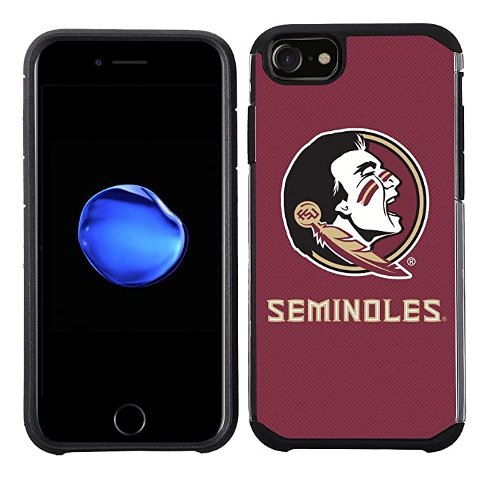 d542fc69330c1 Prime Brands Group Textured Team Color Cell Phone Case for Apple iPhone  8/7/6S/6 - NCAA Licensed Florida State University Seminoles