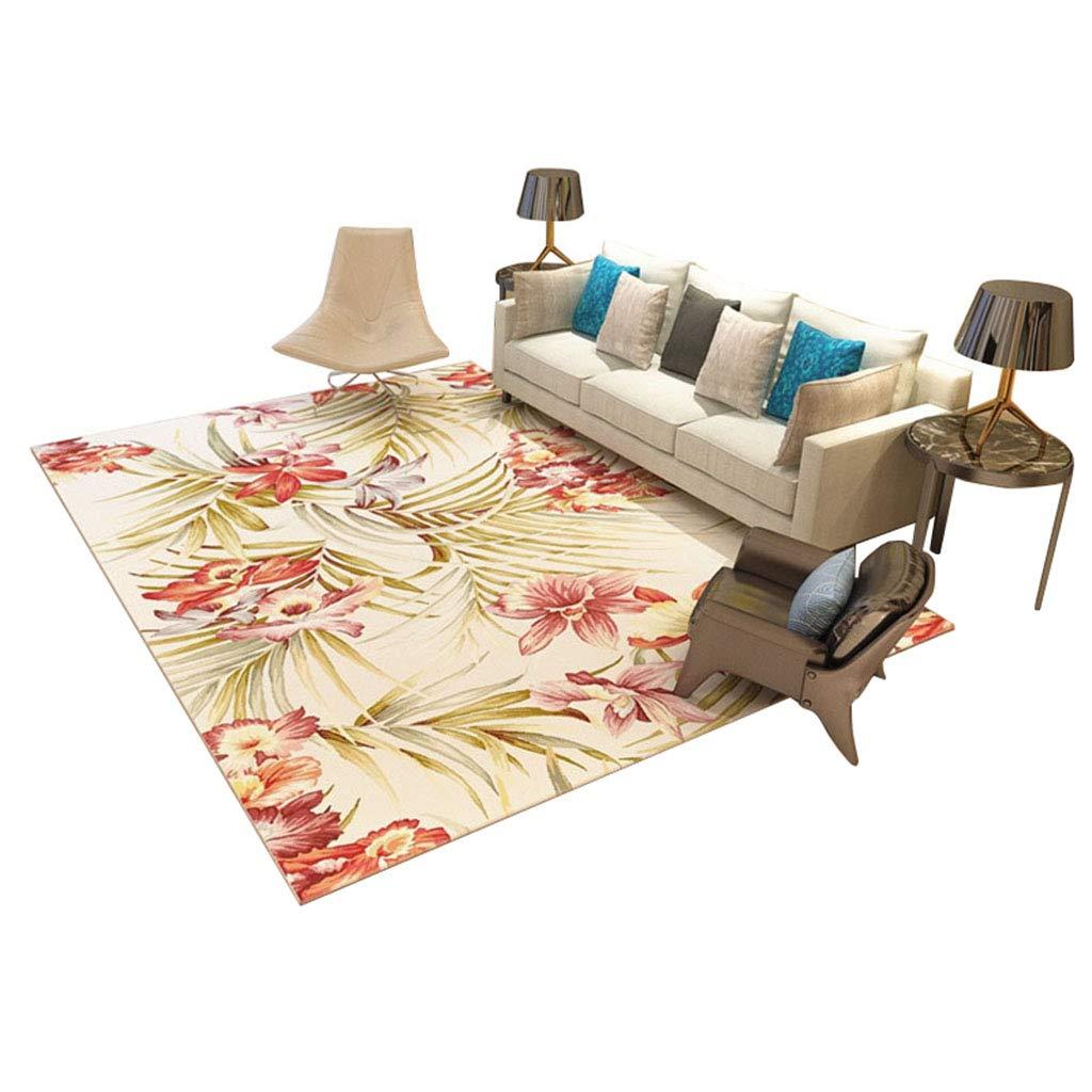 Designer Große rechteckige Teppiche Pastoralen Stil Wohnzimmer Couchtisch Teppich Moderne Schlafzimmer Nachttisch Teppich mit Rosenmuster (größe   160  230cm)