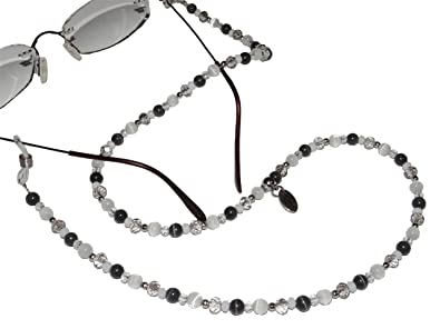 ARTEM Los® main chaîne de lunettes Femme en Acier Inoxydable et perles dans gris/blanc fjqCC