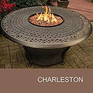 Amazon.com: Agio Charleston - 48 Inch Round Cast Top Gas