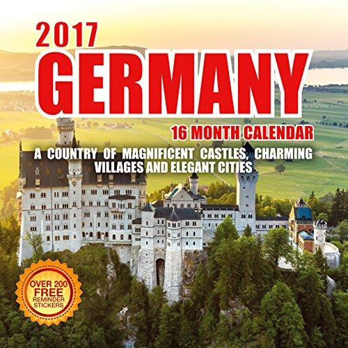 2017 Germany Calendar- 12 x 12 Wall Calendar - 210 Free Reminder Stickers