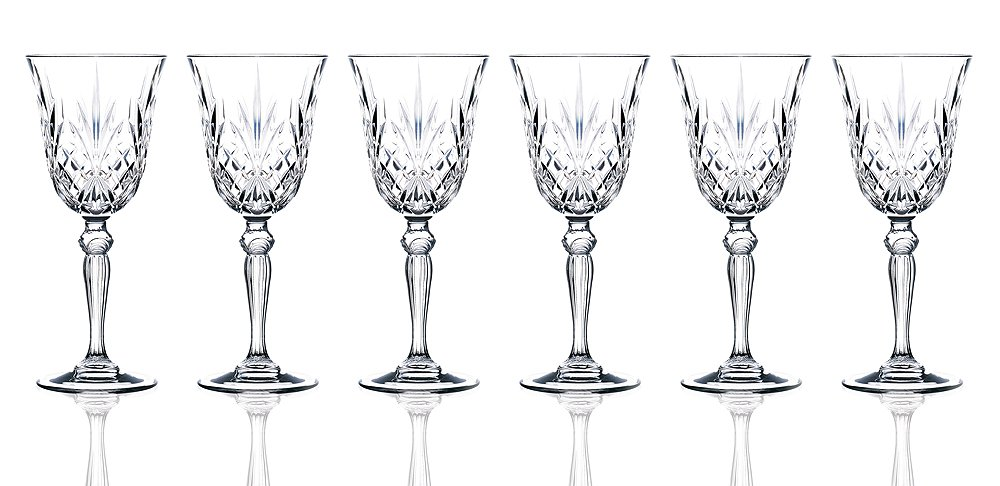 Lorren Home Trends RCR Crystal Melodia Collection Water Glass Set Lorenzo 238490