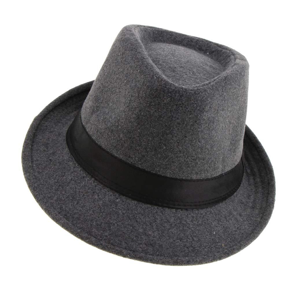 Fenteer Cappelli a Tesa Stretta Strutturata Stile Irlandese Retro Moda Cappello Fedora da Uomo come descritto