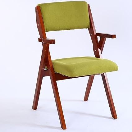 SH-Chairs Silla Plegable de Madera Silla de Tela Informal ...