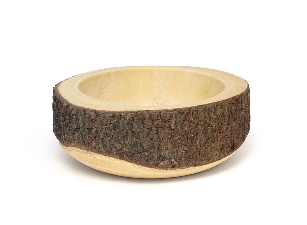 Lipper 1062 Acacia Tree Bark Bowl Brown