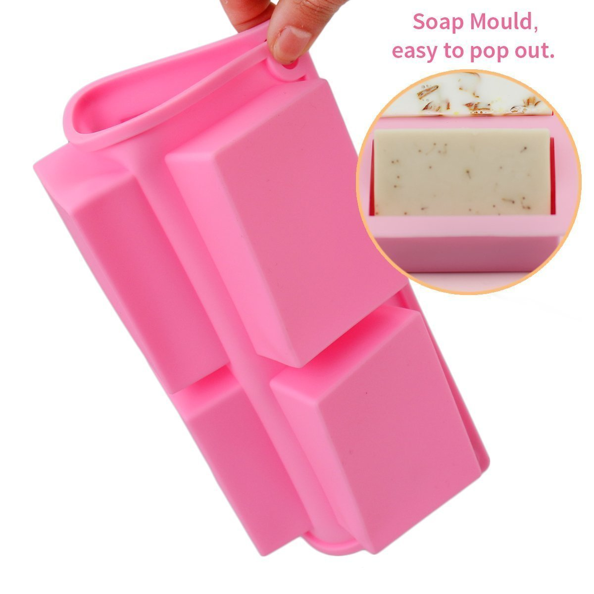 Soap Mold 2pcs 6 Cavity Rectangle Silicone Mould For Candy