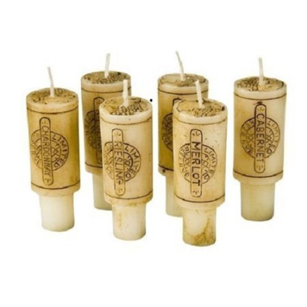 Wine Cork Candles Gift Set of 6