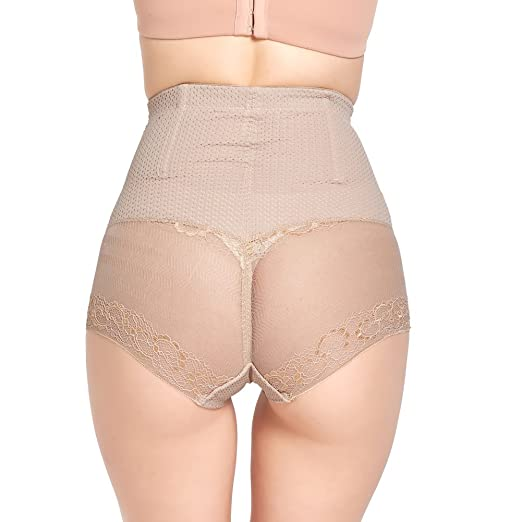 df0e29ce8d Queenral Body Shaper High Waist Tummy Control Seamless Push Up Buttock Hip  Pads Panties Underwear Black at Amazon Women s Clothing store