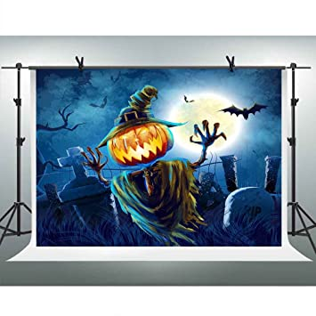 Amazoncom Fhzon 7x5ft Halloween Backdrop Horror Pumpkin Light