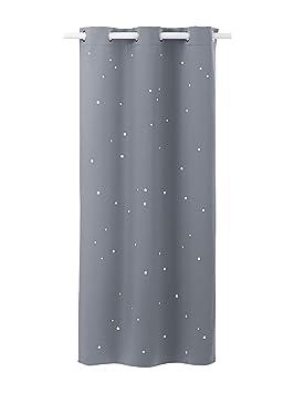VERTBAUDET Rideau Assombrissant étoiles Gris 105X240