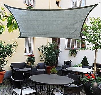 Outsunny 20 x 13 Rectangle Outdoor Patio Portable Shade Canopy Sun Sail – Grey