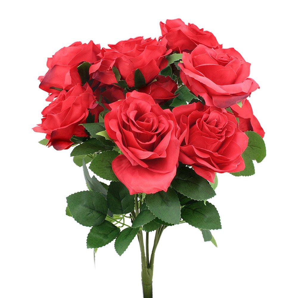 Big flowers amazon topix premium artificial flower romantic rose 10 big heads bounquet red izmirmasajfo