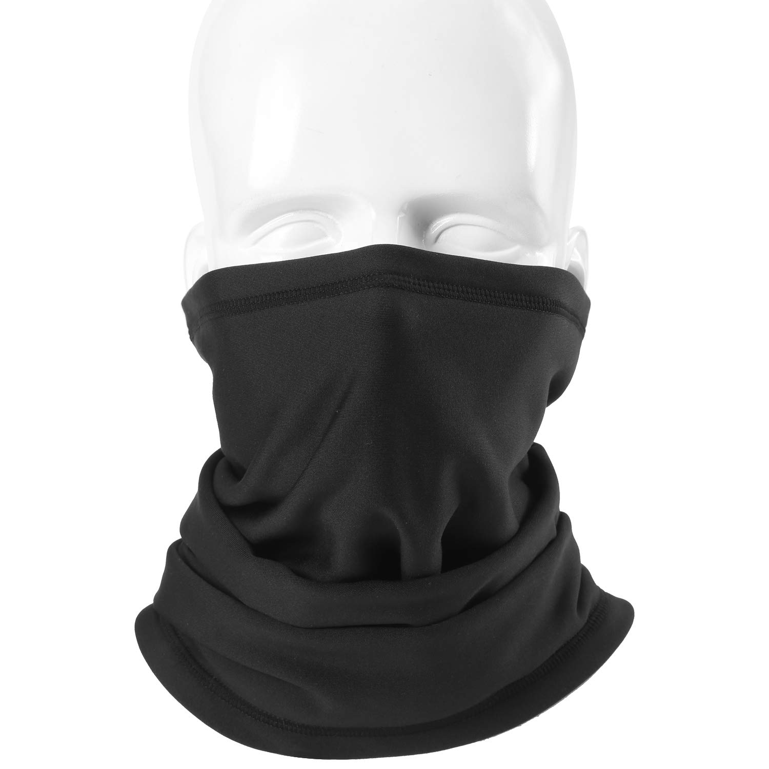 aa4987b9b9f Amazon.com  JIUSY 1 Pack - Windproof Thermal Fleece Neck Gaiter Neck Warmer  Cover Face Mask UV Protection for Snowboard Skiing Cycling Motorcycle  Hunting ...