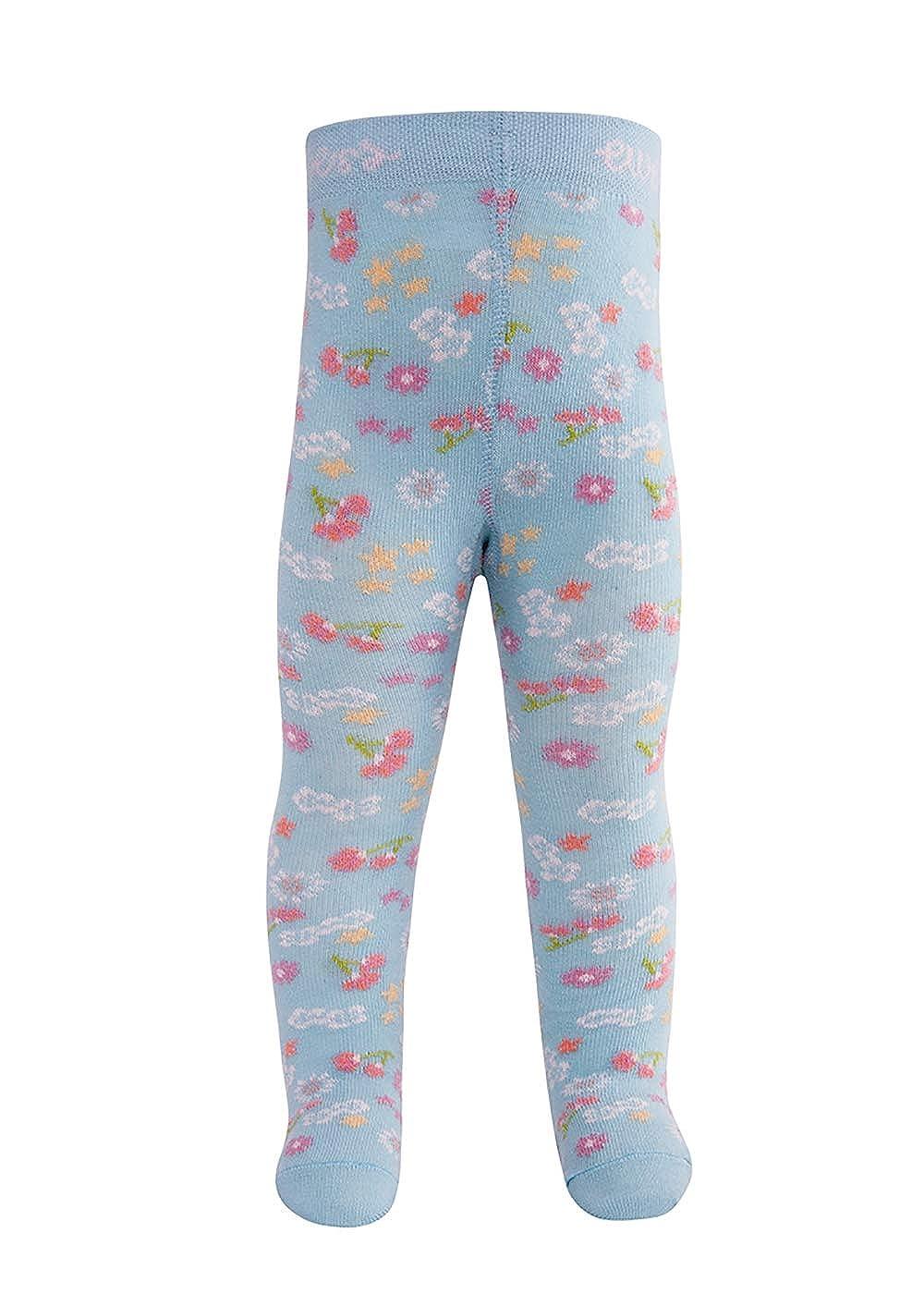Made in Europe und Kinderstrumpfhose f/ür M/ädchen Blumen Strumpfhose Baumwolle Ewers Baby