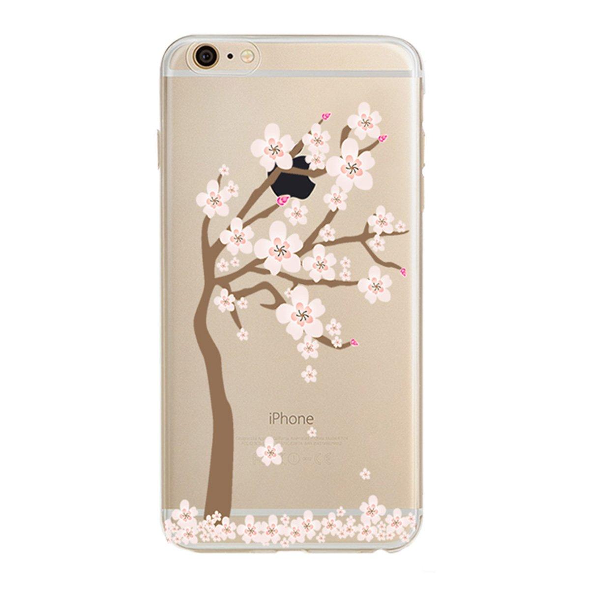 iPhone 6S Plus 用のケース iPhone 6 Plus 用のケースPHEZEN iPhone 6S Plus TPU ケース 豪華版きらきらダイヤモンド クリスタルのように透明 柔らかいTPUシリコーン製の裏カバー 5.5インチのiPhone 6/6S Plus用のドリームキャチャーの柄付き RT7886X(1#) B01LYCOQ0C Floral #1 Floral #1